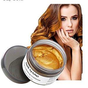 Gold Temporary Hair Dye Wax Mud
